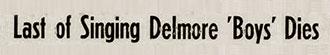 Annonce Alton Delmore décédé