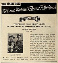 Ad Delmore Bros. Cash Box
