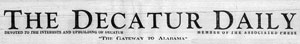 Annonce Decatur Alabama newspaper
