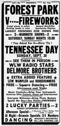 Advertisement Delmore Brothers Tennessee Days