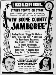 Advertisement Delmore Brothers Boone County Jamboree