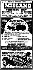 Advertisement Delmore Brothers Midwestern Hayride