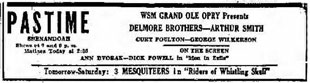 Advertisement Delmore Brothers Fidlin' Arthur Smith