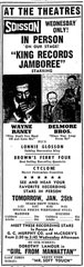 Advertisement Delmore Brothers at the Theatres