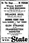 Advertisement Delmore Brothers with Wayne Raney