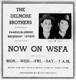 Advertisement Delmore Brothers WSFA