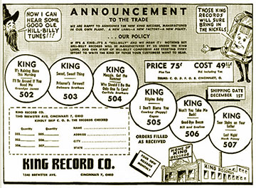 King Records ad