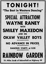 Wayne Raney advertisement tonight