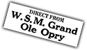 Annonce WSM Grand Ole Opry
