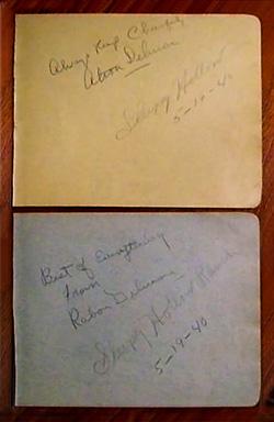 Delmore Brothers' autograph