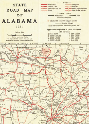 Carte Alabama
