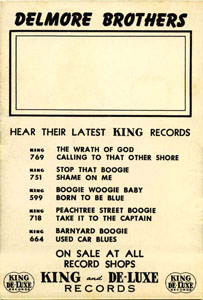 Delmore Brothers King card