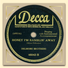 Delmore Brothers Decca label