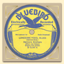 Delmore Brothers Bluebird label