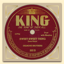 Delmore Brothers King label