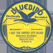 Delmore Brothers Bluebird 6002