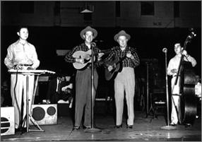 Delmore Brothers sur scène