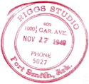 Riggs Studio stamp