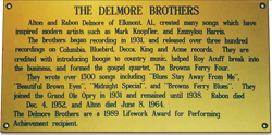 Delmore Brothers' award wall plate
