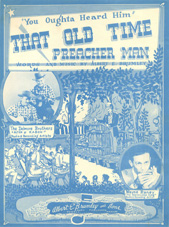 Sheet music That Old Time Preacher Man Delmore Brothers